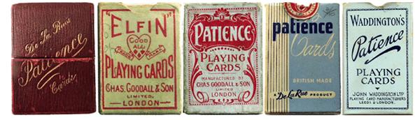 geschiedenis kaartspellen Historische Patience Speelkaarten
