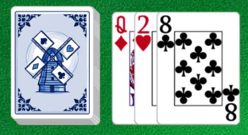 Deel 3 kaarten bij Patience