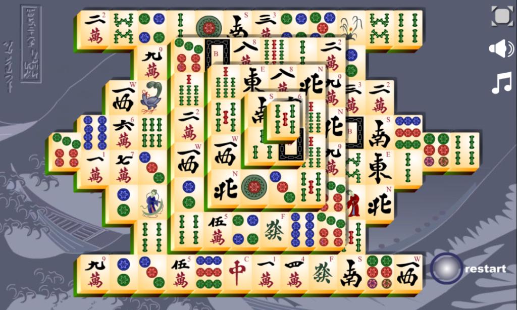 Mahjong-Titans-speelveld-bij-aanvang-van-het-spel
