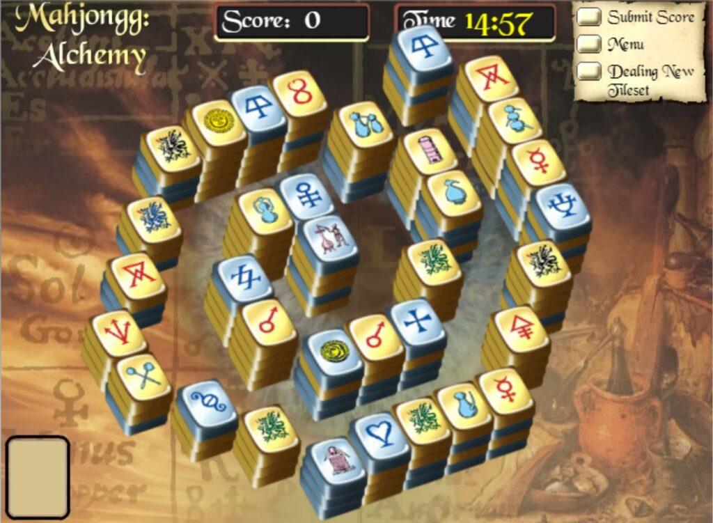 Mahjong alchemy html5 spel voorbeeld startveld