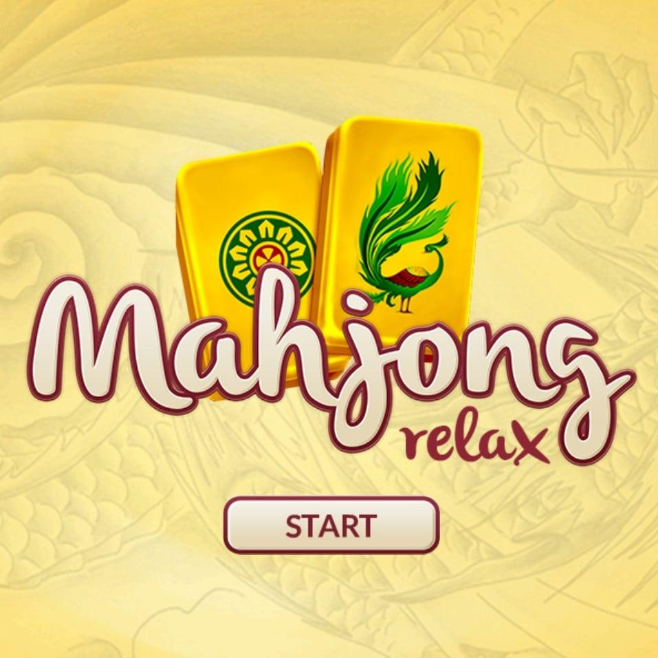 Majong Relax logo van het startscherm van het spel