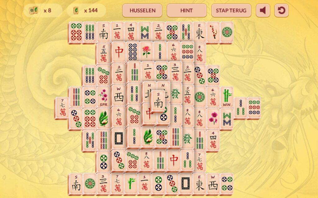 Majong Relax screenshot van het speelveld met mahjong stenen