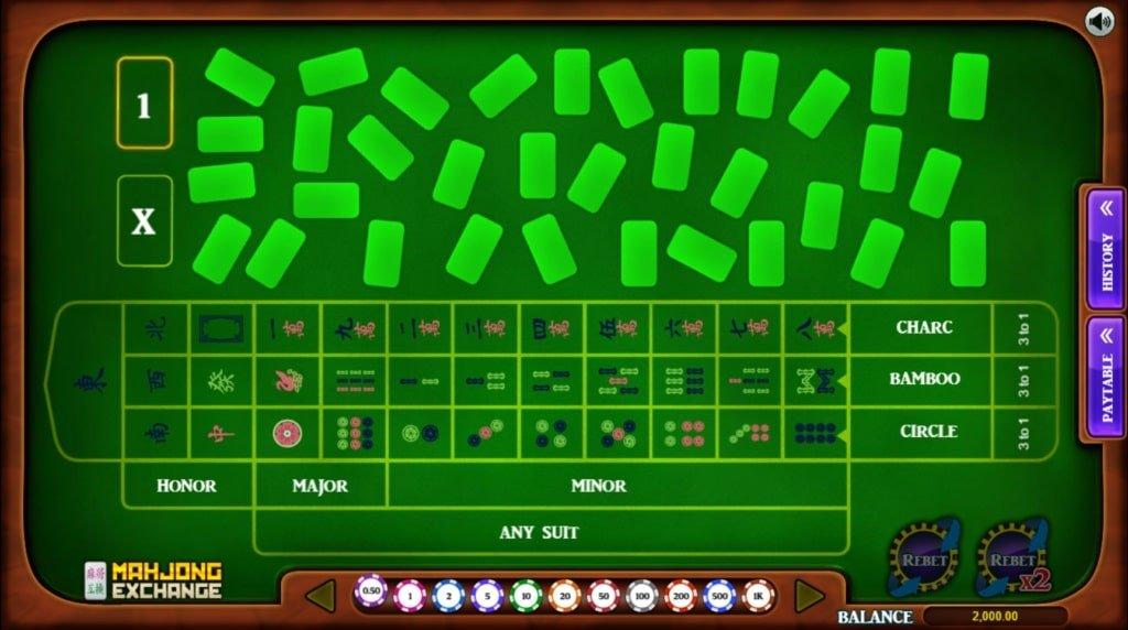 mahjong exchange speelveld van het spel