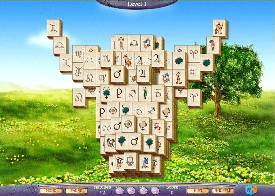mahjong fortuna 2 speelveld van het spel